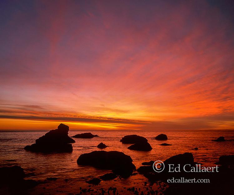 Dusk, Slide Beach, Golden Gate National Recreation Area, Marin County, California