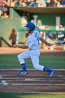 Drew Avans (10) of the Ogden Raptors bats against the Helena Brewers at Lindquist Field on July 14, 2018 in Ogden, Utah. Ogden defeated Helena 8-6. (Stephen Smith/Four Seam Images)