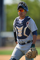 Detroit Tigers Elys Escobar (69) during a Minor League Spring Training game against the New York Yankees on March 21, 2018 at the New York Yankees Minor League Complex in Tampa, Florida.  (Mike Janes/Four Seam Images)