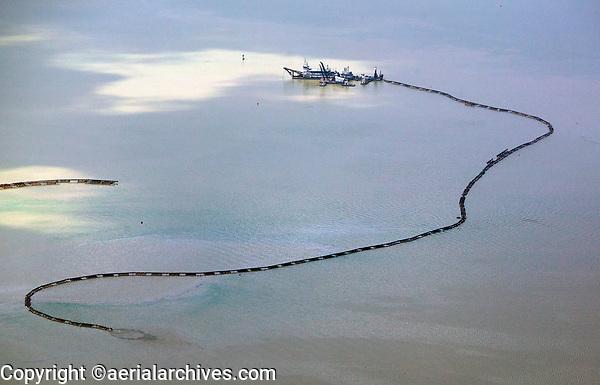 aerial photograph of dredging operations in the Panama Canal, Panama | fotografía aérea de las operaciones de dragado en el Canal de Panamá, Panamá