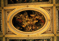 "Inigo Jones: Banqueting House, Whitehall. Ceiling paintings by Rubens,  ""Apotheosis of James I."" Photo '87."