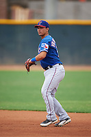 Texas Rangers Evan Van Hoosier (78) during an instructional league game against the Los Angeles Angels / Chicago Cubs co-op team on October 5, 2015 at the Surprise Stadium Training Complex in Surprise, Arizona.  (Mike Janes/Four Seam Images)