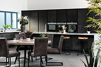 BNPS.co.uk (01202 558833)<br /> Pic: Rohrs&Rowe/BNPS<br /> <br /> Pictured: Kitchen/dining space. <br /> <br /> An exceptional contemporary clifftop home with panoramic views of not one, but two beaches is on the market for offers over £2m.<br /> <br /> Seascape is a brand new home, completed earlier this year and never lived in, that has a frontline spot next to Porthpean Beach and Duporth Beach.<br /> <br /> The sleek four-bedroom home in the village of Porthpean, Cornwall, has incredible sea views from almost every room, a full width balcony and a gate in the garden straight onto the South West Coast Path.