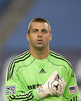Chicago Fire goalkeeper Jon Busch (1). The New England Revolution tied the Chicago Fire, 0-0, at Gillette Stadium on October 17, 2009.