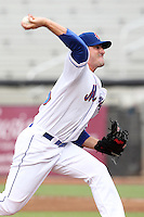 St. Lucie Mets starting pitcher Matt Harvey #43 delivers a pitch during a game against the Charlotte Stone Crabs at Digital Domain Ballpark on June 20, 2011 in Port St Lucie, Florida.  St. Lucie defeated Charlotte 3-2 in 11 innings.  (Mike Janes/Four Seam Images)