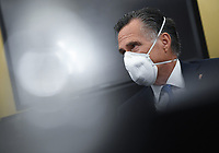 United States Senator Mitt Romney (Republican of Utah) attends the US Senate Small Business and Entrepreneurship Hearings to examine implementation of Title I of the CARES Act on Capitol Hill in Washington, DC on Wednesday, June 10, 2020.   <br /> Credit: Kevin Dietsch / Pool via CNP/AdMedia