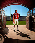 FSU quarterback Jameis Winston in the tunnel during the 2013 Florida State Football Media Day in Doak S. Campbell Stadium in Tallahassee, Florida.<br /> ©2013 Mark Wallheiser