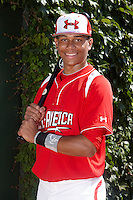 Infielder Jan Hernandez #11 of the Carlos Beltran Academy in San Lorenzo, Puerto Rico poses for a photo before participating in the Under Armour All-American Game powered by Baseball Factory at Wrigley Field on August 18, 2012 in Chicago, Illinois.  (Mike Janes/Four Seam Images)