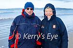 Enjoying a stroll in Banna beach on Sunday, l to r: Alan Davis and Leonie Smith Davis.
