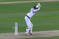 George Bailey of Hampshire is bowled out by Jamie Porter during Essex CCC vs Hampshire CCC, Specsavers County Championship Division 1 Cricket at The Cloudfm County Ground on 20th May 2017
