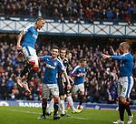James Tavernier celebrates after scoring goal no 4 for Rangers