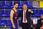 EUROLEAGUE 2020-2021. Playoffs.Game 1.<br /> FC Barcelona vs Zenit St. Petersburg: 74-76.<br /> Leo Westermann & Sarunas Jasikevicius.