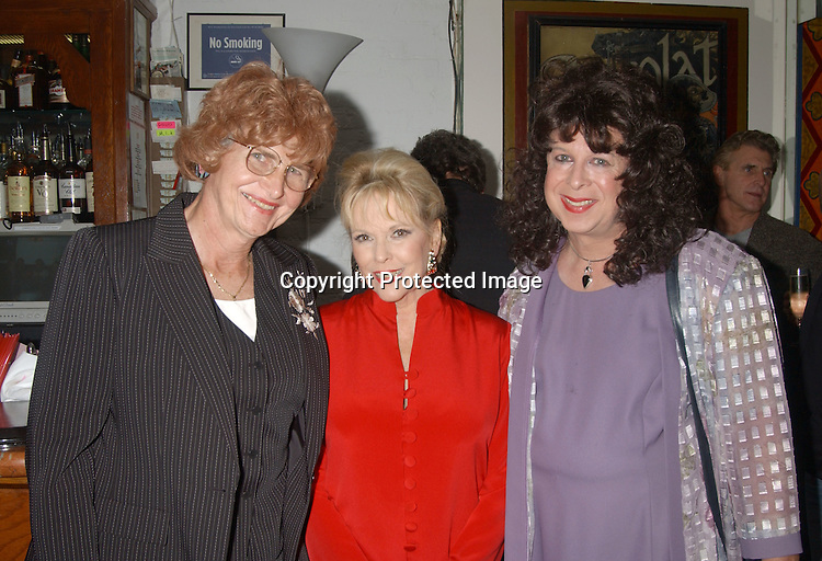 Babs, Eileen Fulton and Darlana                               ..at Eileen Fulton's show on September 12, 2003 at Don't Tell Mama celebrating her 70th Birthday. there was an after party at La Rivista afterwards.                                                          Photo by Robin Platzer, Twin Images