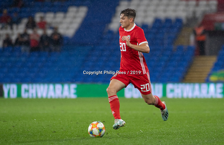 Cardiff - UK - 9th September :<br />Wales v Belarus Friendly match at Cardiff City Stadium.<br />Daniel James of Wales.<br />Editorial use only