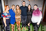 Emma McElligott, Ioana Ignatova, Clodagh Morris, Ovi Krisciunas, Anna Norris and Niall Byrne from Manor Village Applegreen enjoying the evening in Benners Hotel on Saturday