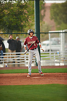 Nicholas Martinez (4) of Pembroke Pines Charter HS High School in Pembroke Pines, Florida during the Under Armour All-American Pre-Season Tournament presented by Baseball Factory on January 14, 2017 at Sloan Park in Mesa, Arizona.  (Zac Lucy/MJP/Four Seam Images)