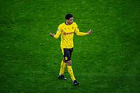 14th April 2021; Induna Park, Dortmund, Germany; UEFA Champions League Football quarter-final, Borussia Dortmund versus Manchester City;  Dortmunds Jude Bellingham shows his diappointment