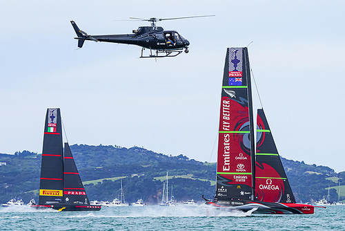 Racing at the America's Cup in Auckland