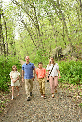 Landon's Pre-Bar Mitzvah Portraits With His Family<br /> In The Sleepy Hollow Woods