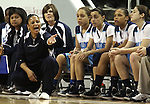 Centennial Head Coach Karen Weitz watches the semi-final game in the NIAA 4A State Basketball Championships between Centennial and Reno high schools at Lawlor Events Center in Reno, Nev, on Thursday, Feb. 23, 2012. Reno won 60-41. .Photo by Cathleen Allison