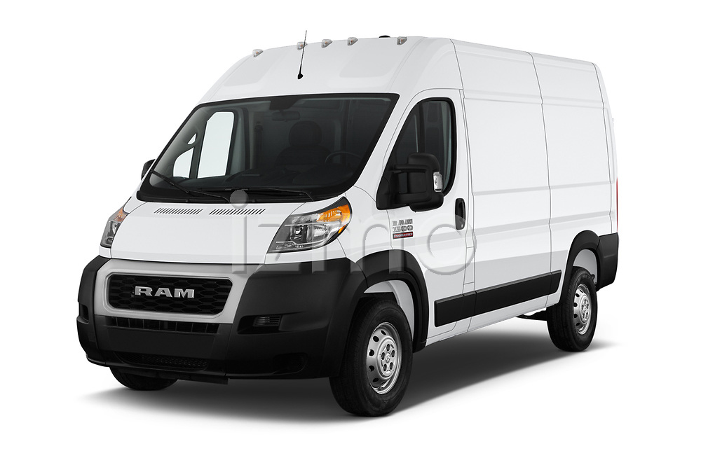 2019 Ram Promaster Base 3 Door Cargo Van angular front stock photos of front three quarter view