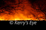 Gorse fires raged in South Kerry on the 10th February pictured here one of the fires at Cloghanelinaghan/Killurly West.
