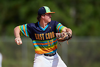 Nathan Smith during the WWBA World Championship at the Roger Dean Complex on October 20, 2018 in Jupiter, Florida.  Nathan Smith is a third baseman / catcher from Thomasville, Georgia who attends Thomasville High School.  (Mike Janes/Four Seam Images)