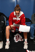 7 April 2008: Stanford Cardinal Ashley Cimino during Stanford's press conference for the 2008 NCAA Division I Women's Basketball Final Four championship game at the St. Pete Times Forum Arena in Tampa Bay, FL.