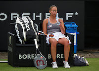 Netherlands, Den Bosch, 16.06.2014. Tennis, Topshelf Open, Lesley Kerkhove (NED)<br /> Photo:Tennisimages/Henk Koster