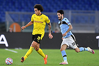 Axel Witsel of Borussia Dortmund and Luis Alberto of SS Lazio in action during the Champions League Group Stage F day 1 football match between SS Lazio and Borussia Dortmund at Olimpic stadium in Rome (Italy), October, 200 Italy, 2020. Photo Andrea Staccioli / Insidefoto