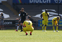 17th April 2021; Liberty Stadium, Swansea, Glamorgan, Wales; English Football League Championship Football, Swansea City versus Wycombe Wanderers; Joe Jacobson of Wycombe Wanderers looks dejected after the final whistle after a 2 goal lead was lost within 4 minutes with the final result being 2-2