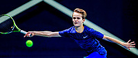 Hilversum, Netherlands, December 3, 2017, Winter Youth Circuit Masters, 12,14,and 16 years, Tijs Groesbeek (NED)<br /> Photo: Tennisimages/Henk Koster