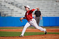 Bradley Braves pitcher Cole Cook (5) during a game against the Dartmouth Big Green on March 21, 2019 at Chain of Lakes Stadium in Winter Haven, Florida.  Bradley defeated Dartmouth 6-3.  (Mike Janes/Four Seam Images)