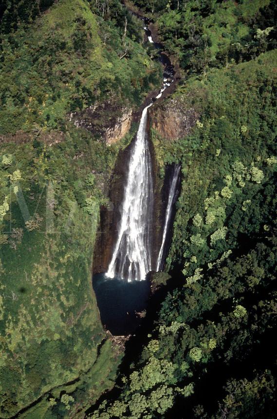 Waterfall on the Hawaiian Island of Kauai