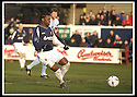 25/1/03       Copyright Pic : James Stewart                  .File Name : stewart-falkirk v hearts 29.COLLIN SAMUEL HITS THE POST IN THE FIRST MINUTE.....James Stewart Photo Agency, 19 Carronlea Drive, Falkirk. FK2 8DN      Vat Reg No. 607 6932 25.Office : +44 (0)1324 570906     .Mobile : + 44 (0)7721 416997.Fax     :  +44 (0)1324 570906.E-mail : jim@jspa.co.uk.If you require further information then contact Jim Stewart on any of the numbers above.........