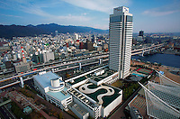 Hotel Okura and city skyline, Kobe, Japan