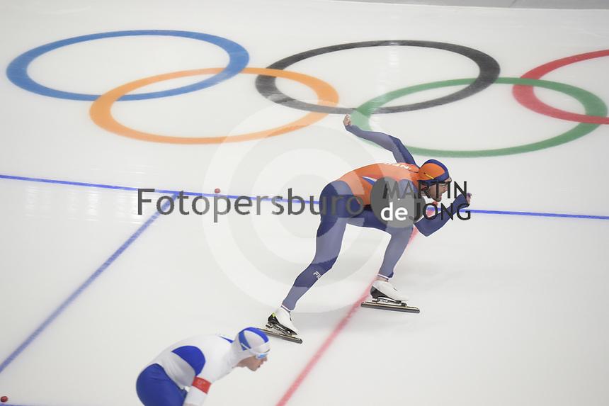 OLYMPIC GAMES: PYEONGCHANG: 23-02-2018, Gangneung Oval, Long Track, 1000m Men, Kjeld Nuis (NED), ©photo Martin de Jong