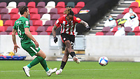 Ivan Toney scores Brentford's second goal during Brentford vs Preston North End, Sky Bet EFL Championship Football at the Brentford Community Stadium on 4th October 2020