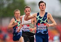 23rd May 2021; Gateshead International Stadium, Gateshead, Tyne and Wear, England; Muller Diamond League Grand Prix Athletics, Gateshead; Jakob Ingebrigtsen wins the mens 1500m