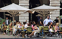 London's Covent Garden looks busier as many restaurants now offer an 'alfresco' outside dining experience. Businesses have only recently returned from lockdown and doing their best to recover trade after the Covid-19 pandemic has seen many well known brands close for good. Covent Garden, London on Saturday August 22nd 2020