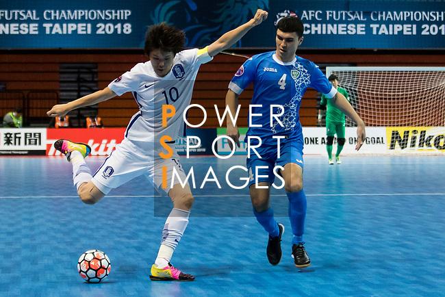 Uzbekistan vs South Korea during the AFC Futsal Championship Chinese Taipei 2018 Group Stage match at University of Taipei Gymnasium on 01 February 2018, in Taipei, Taiwan. Photo by Yu Chun Christopher Wong / Power Sport Images