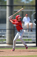 Philadelphia Phillies outfielder Carlos Tocci (26) during a minor league spring training game against the Pittsburgh Pirates on March 18, 2014 at the Carpenter Complex in Clearwater, Florida.  (Mike Janes/Four Seam Images)