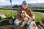 Sean Foley taking his dog Frankie for a walk at the Lock gates in Blennerville on Sunday.
