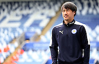 Shinji Okazaki of Leicester City before the Barclays Premier League match between Leicester City and Swansea City played at The King Power Stadium, Leicester on April 24th 2016