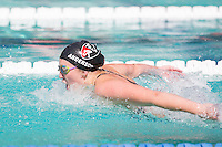 Santa Clara, California - Friday June 3, 2016: Gabrielle Anderson competes in the Women's 100 Long Course Meter Butterfly event at the Arena Pro Swim Series.