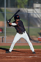 AZL Giants Black Carter Aldrete (7) at bat during an Arizona League game against the AZL Angels at the Giants Baseball Complex on June 21, 2019 in Scottsdale, Arizona. AZL Angels defeated AZL Giants Black 6-3. (Zachary Lucy/Four Seam Images)