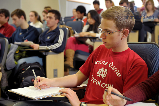 Undergraduate theology class, 2010..Photo by Matt Cashore/University of Notre Dame