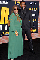 "LOS ANGELES, CA: 27, 2020: Winston Duke & Cora Pantin at the world premiere of ""Spenser Confidential"" at the Regency Village Theatre.<br /> Picture: Paul Smith/Featureflash"