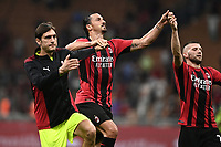 Zlatan Ibrahimovic of AC Milan celebrates at the end of the Serie A 2021/2022 football match between AC Milan and SS Lazio at Giuseppe Meazza stadium in Milano (Italy), August 29th, 2021. Photo Image Sport / Insidefoto