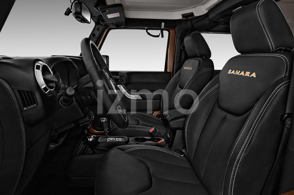 Front seat view of 2016 JEEP Wrangler Sahara 5 Door SUV Front Seat  car photos